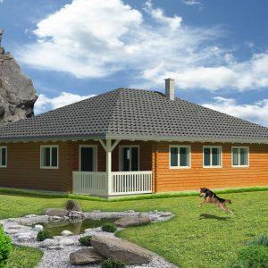 Zrubový dom Trend - drevený bungalov