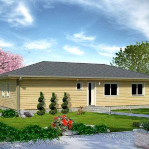 Zrubový dom Adam - drevený bungalov