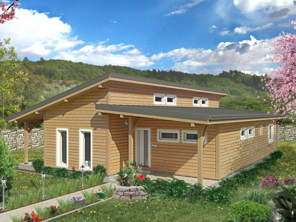Zrubový dom Fénix - drevený bungalov