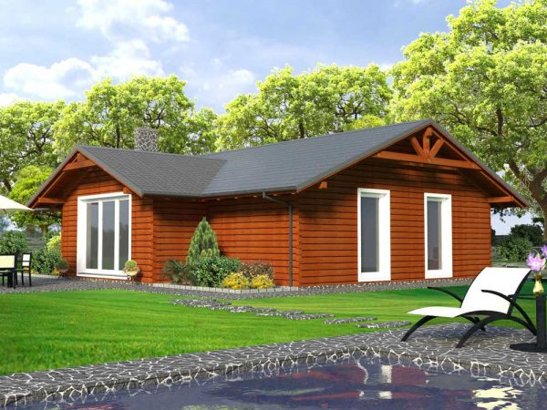 Zrubový dom Miro - drevený bungalov