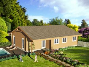 Zrubový dom Tomáš - drevený bungalov