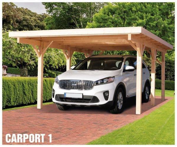 Carport 1 - prístrešok pre 1 auto s pultovou strechou