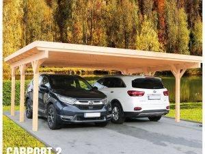 Carport 2 - Prístrešok pre 2 autá s pultovou strechou