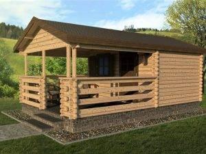 Záhradný domček s terasou 950-1