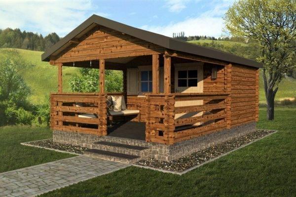 Záhradný domček s terasou 950-2